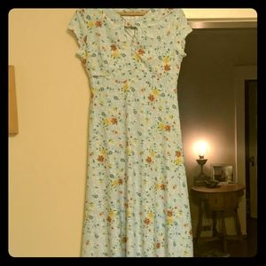 Lindy Bop Juliet Blue 1940's Style Tea Dress - Med